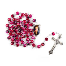 Divine Mercy Hand-Made Glass Bead Rosary