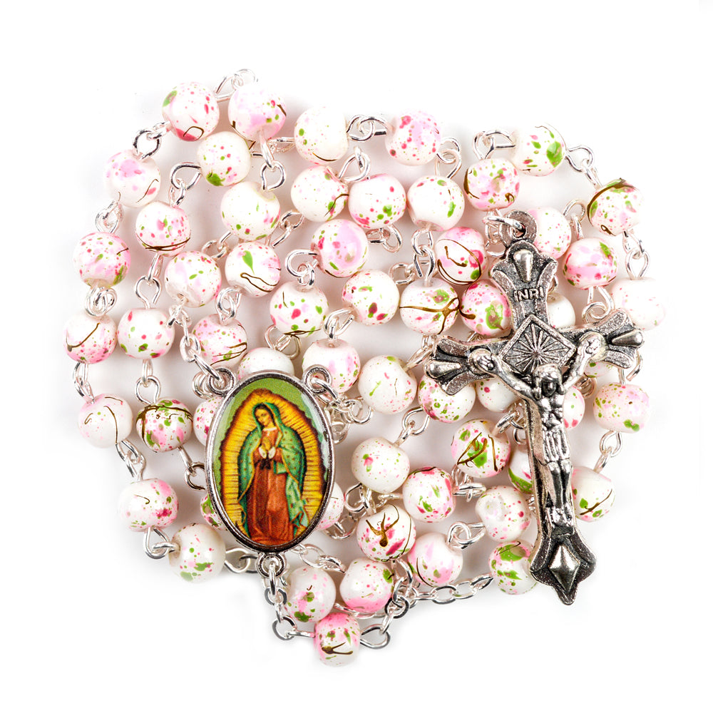 Our Lady of Guadalupe Hand-Made Glass Bead Rosary