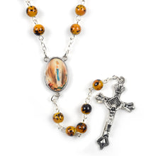 Our Lady of Lourdes Hand-Made Glass Bead Rosary