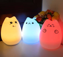 Cute Cat Colour Changing Bedtime Lamp