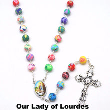 Beautiful Colourful Catholic Rosary