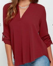 S-5XL Women's V Neck Chiffon Blouse