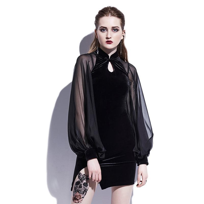 Gothic Bodycon Mini Dress