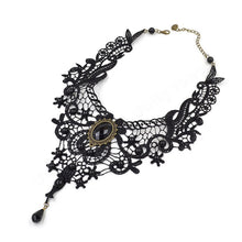 Gothic Black Choker Necklace