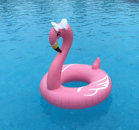 Giant Flamingo Swimming Pool Rubber Ring Float