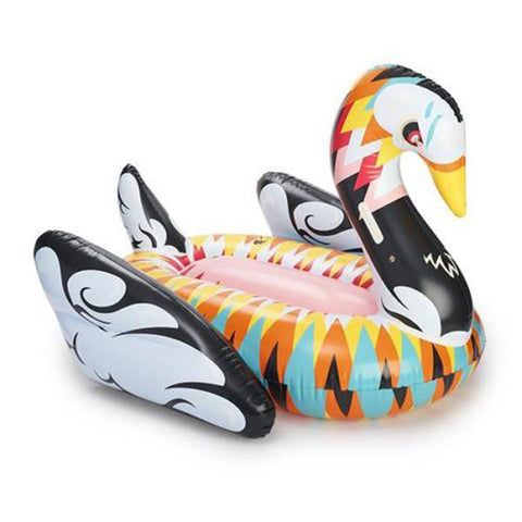 Giant Abstract Multi-Coloured Swan Pool Float