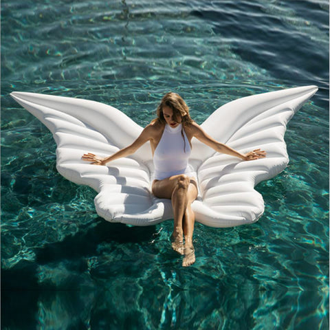 Giant Angel Wings Pool Float White