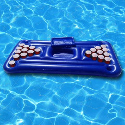 Inflatable Pool Beer Pong Table Lilo. Giant beer pong table float for Swimming pool