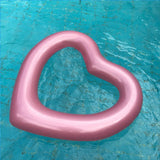 Pink Inflatable Love Heart Pool Ring