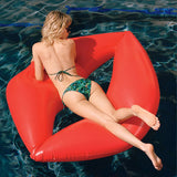 Giant Red Lips Pool Ring Float