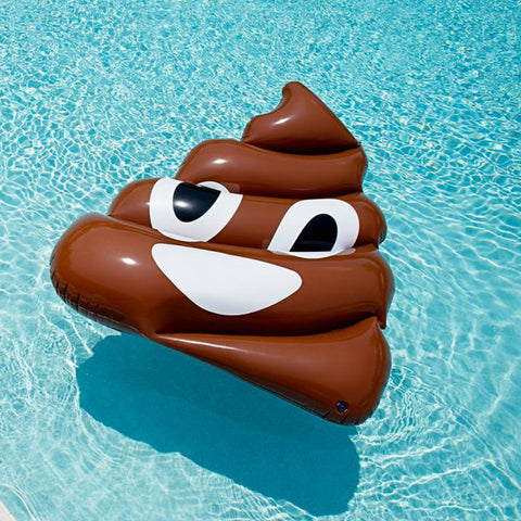 Giant Emoji Poop Swimming Pool Float