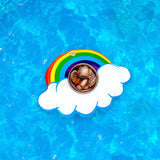 Mini Rainbow Cloud Inflatable Drinks Holder Pool Float