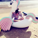 Pink Giant Unicorn Pool Float with Wings