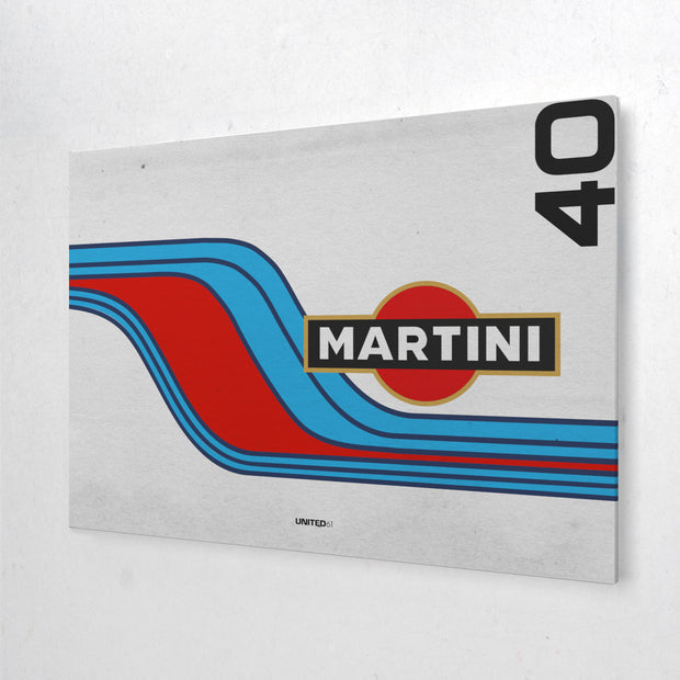 Toile & Poster Martini Racing