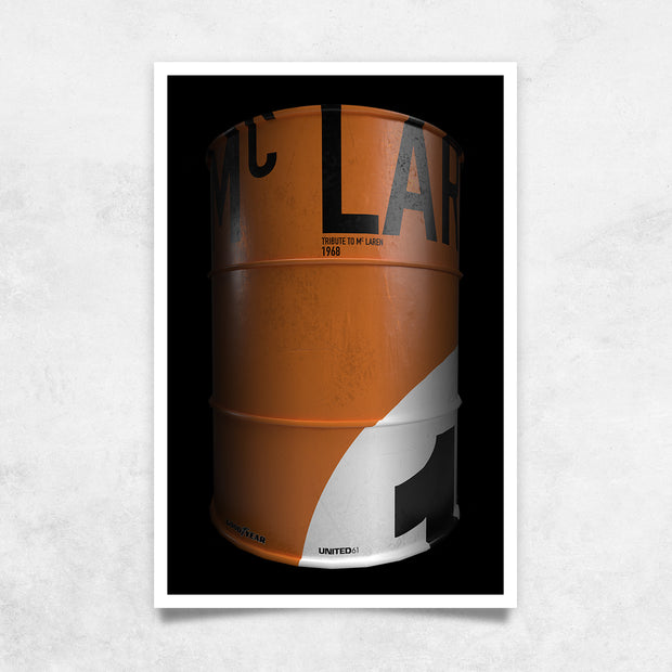 Toile & Poster Fût Tribute to McLaren