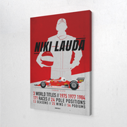 Toile & Poster Tribute to Niki Lauda