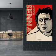 Toile & Poster Tribute to Ayrton Senna