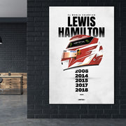 Toile & Poster F1 World Champion Lewis Hamilton