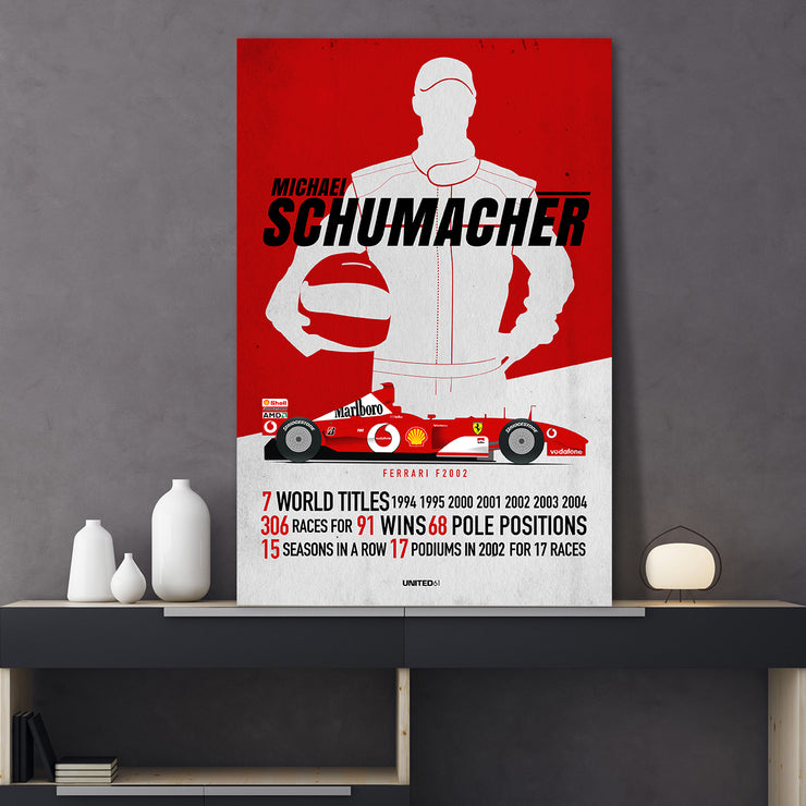 Toile & Poster Tribute to Michael Schumacher