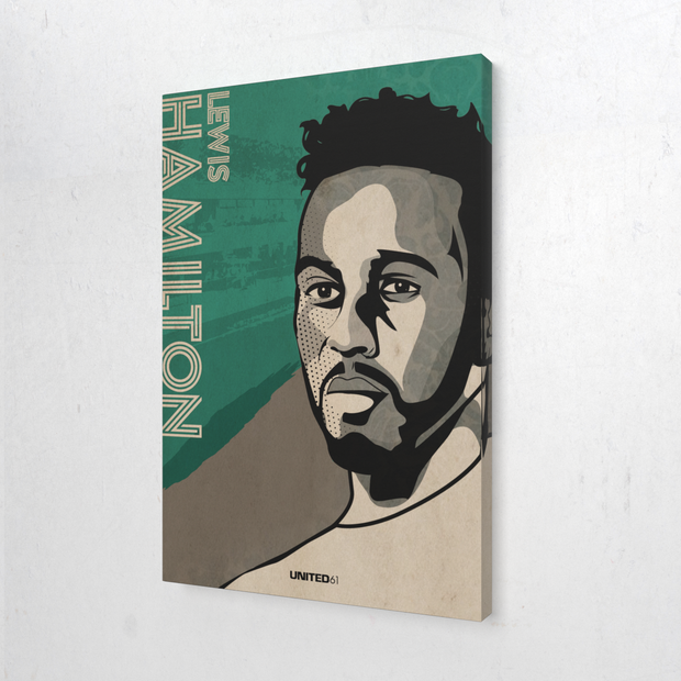 Toile & Poster Tribute to Lewis Hamilton