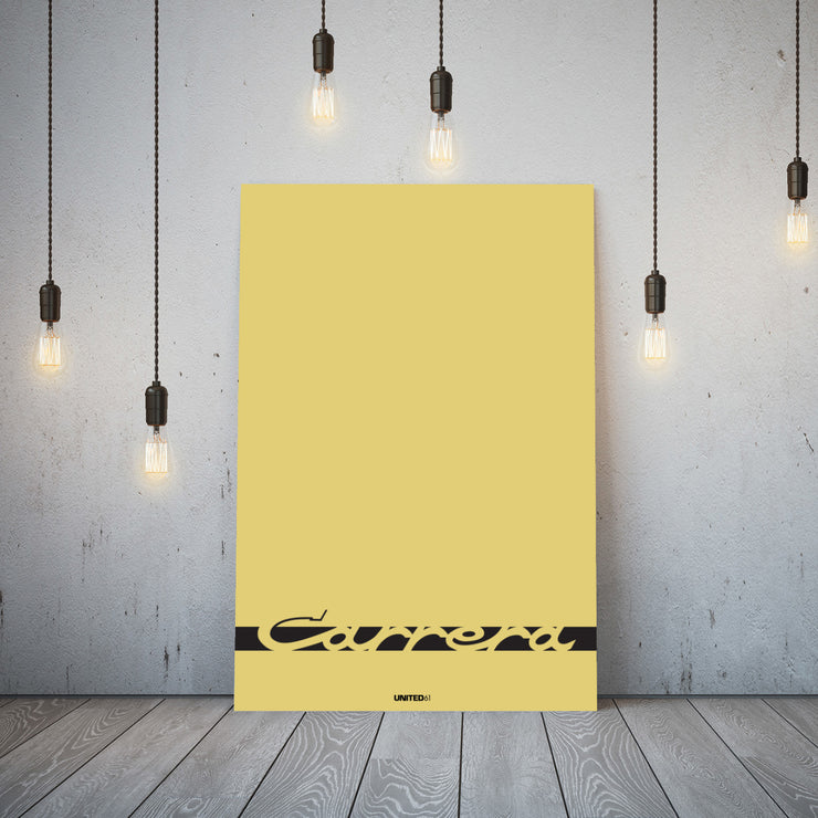 Toile & Poster Porsche Carrera Yellow