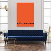 Toile & Poster Porsche Carrera Orange