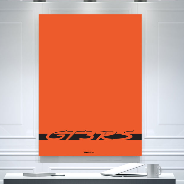 Toile & Poster Porsche GT3 RS Orange