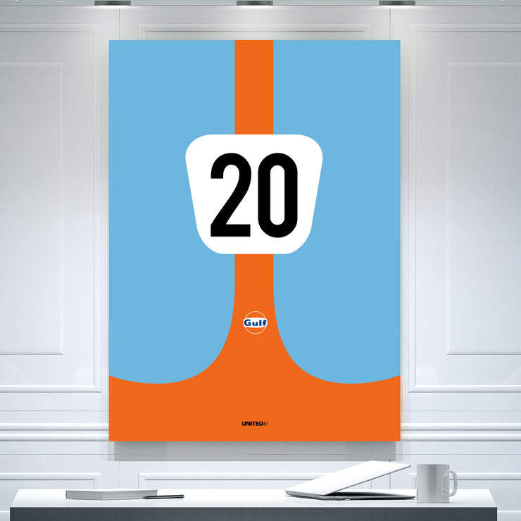 Toile & Poster Ford GT40 GULF 1969 Le Mans Winner