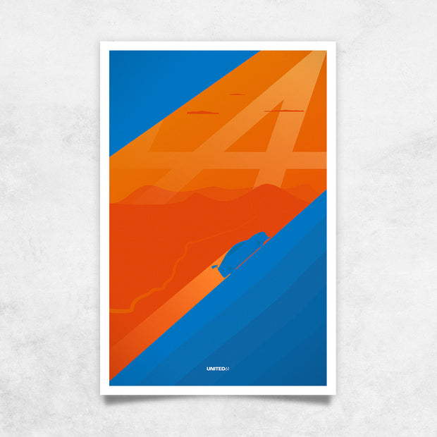 Toile & Poster Alpine A110 Tribute