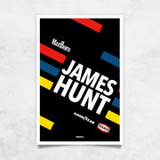 Toile & Poster James Hunt Helmet