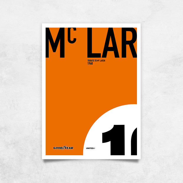 Toile & Poster Tribute to McLaren