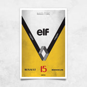 Toile & Poster Alain Prost Renault Elf
