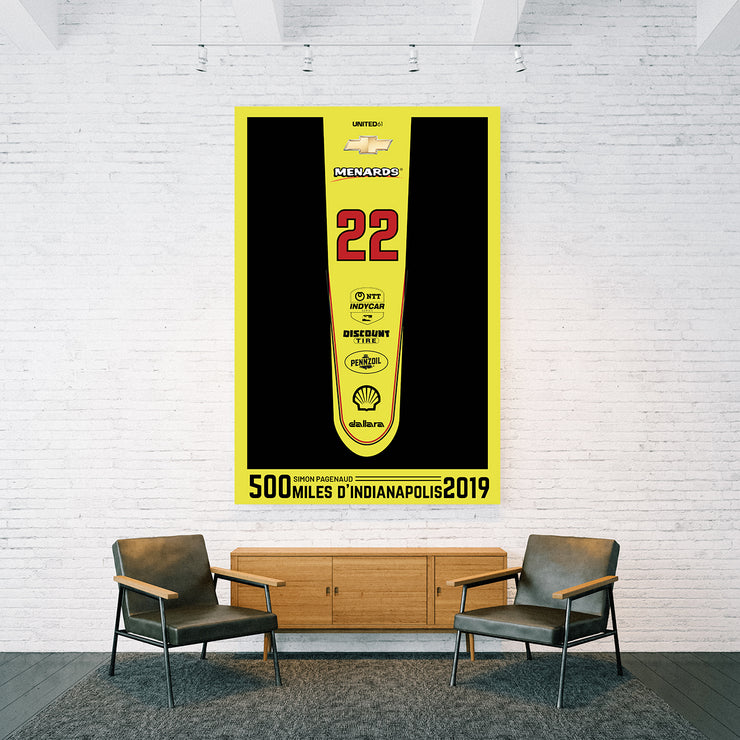 Toile & Poster Tribute to Simon Pagenaud