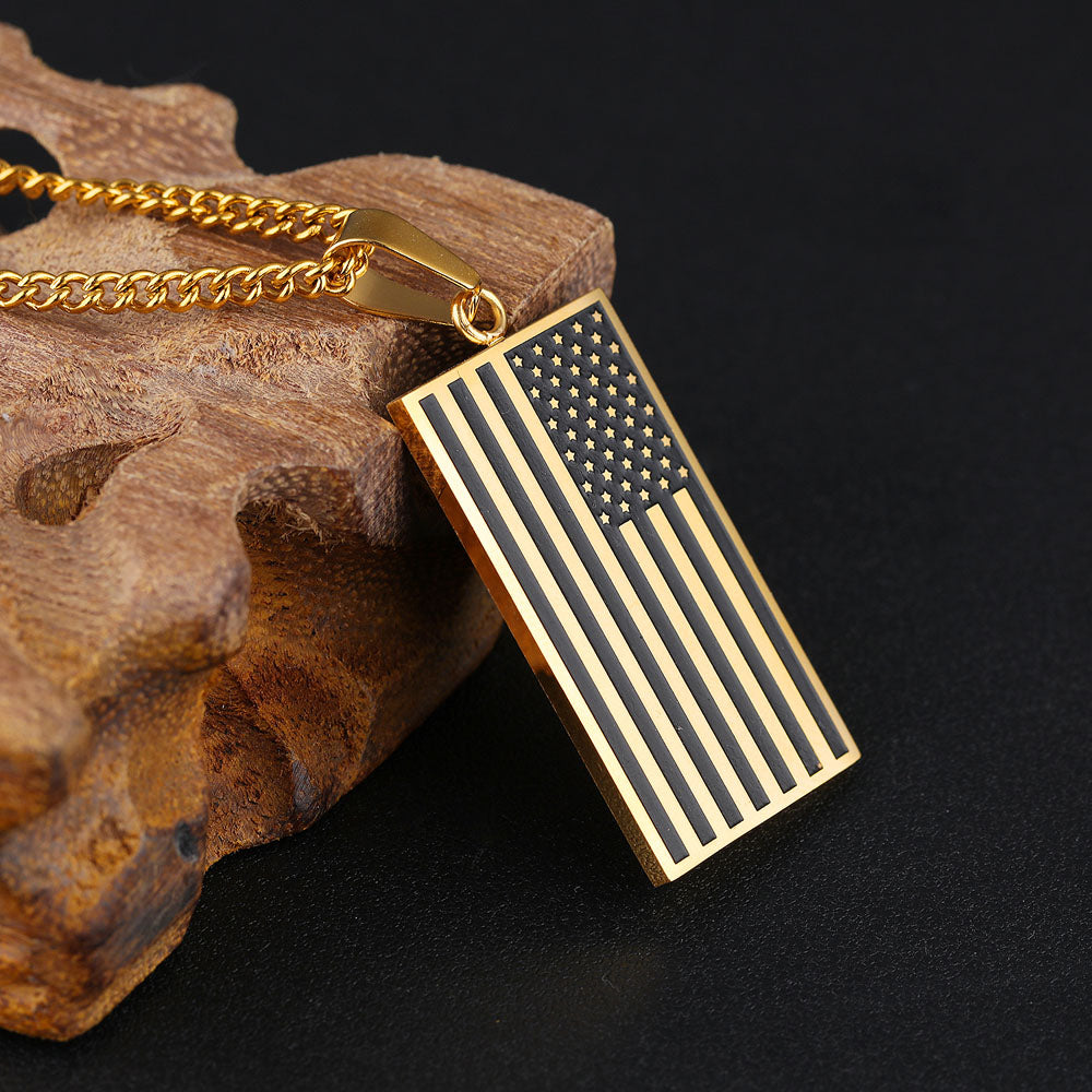 pin multicolor s products heart women flag necklace american