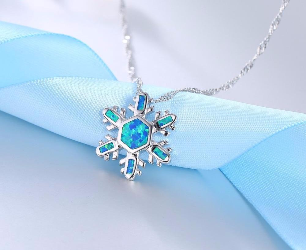 pendant white sterling natural created blue ct necklace topaz jewelry silver in snowflake sapphire and