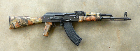 ak47 rifle with camouflage stock and forend 7.62x39
