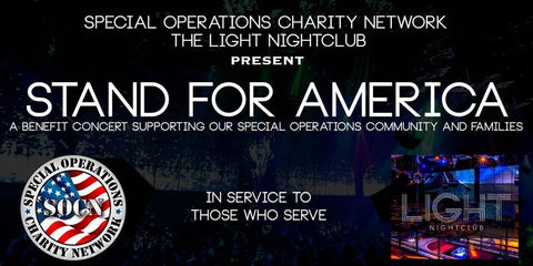 Stand Up America banner from the Special Operations Network charity group