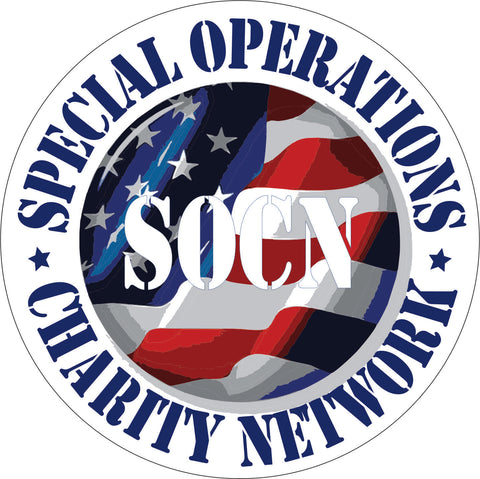 Special Operations Charity Network red white and blue SOCN logo