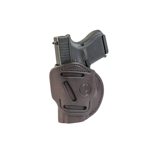 4 Way Holster Right Hand Size 3 Signature Brown