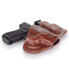 BH2.1 MAG1.2 Combo Belt Holster One Size Classic Brown Right Hand