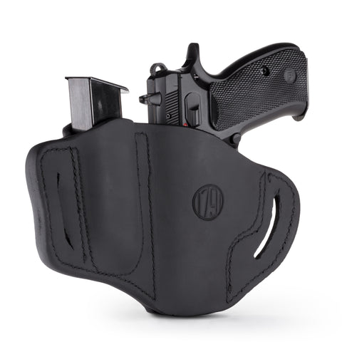 BH2.1 MAG1.2 Combo Belt Holster One Size Stealth Black Left Hand