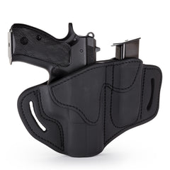 BH2.1 MAG1.2 Combo Belt Holster One Size Stealth Black Right Hand