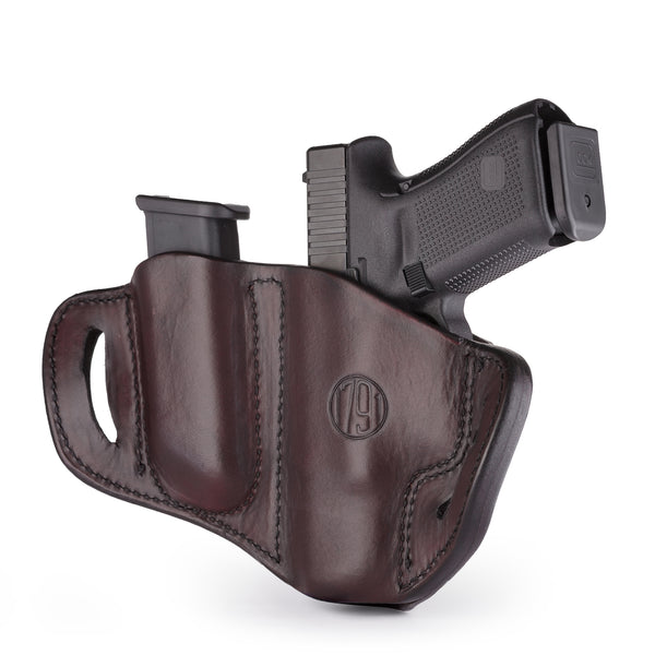 BH2.1 MAG1.2 Combo Belt Holster One Size Signature Brown Right Hand