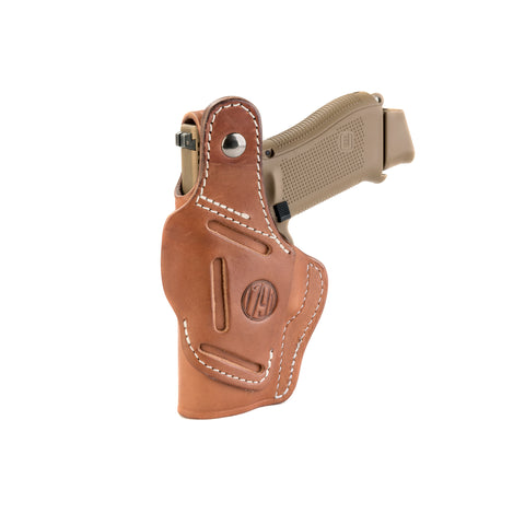 3 Way Holster Thumb Break Size 3 Classic Brown Right Hand