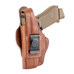 4 Way Holster Thumb Break Size 4 Classic Brown Right Hand