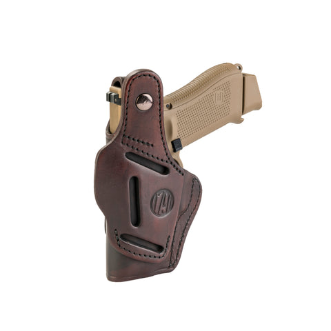 4 Way Holster Thumb Break Size 4 Signature Brown Right Hand