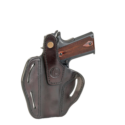 BHx Thumb Break Belt Holster C&L Size 1 Signature Brown Right Hand