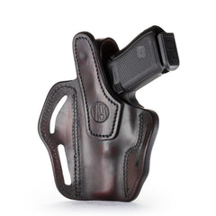 BHx Thumb Break Belt Holster Size 3 Signature Brown Right Hand