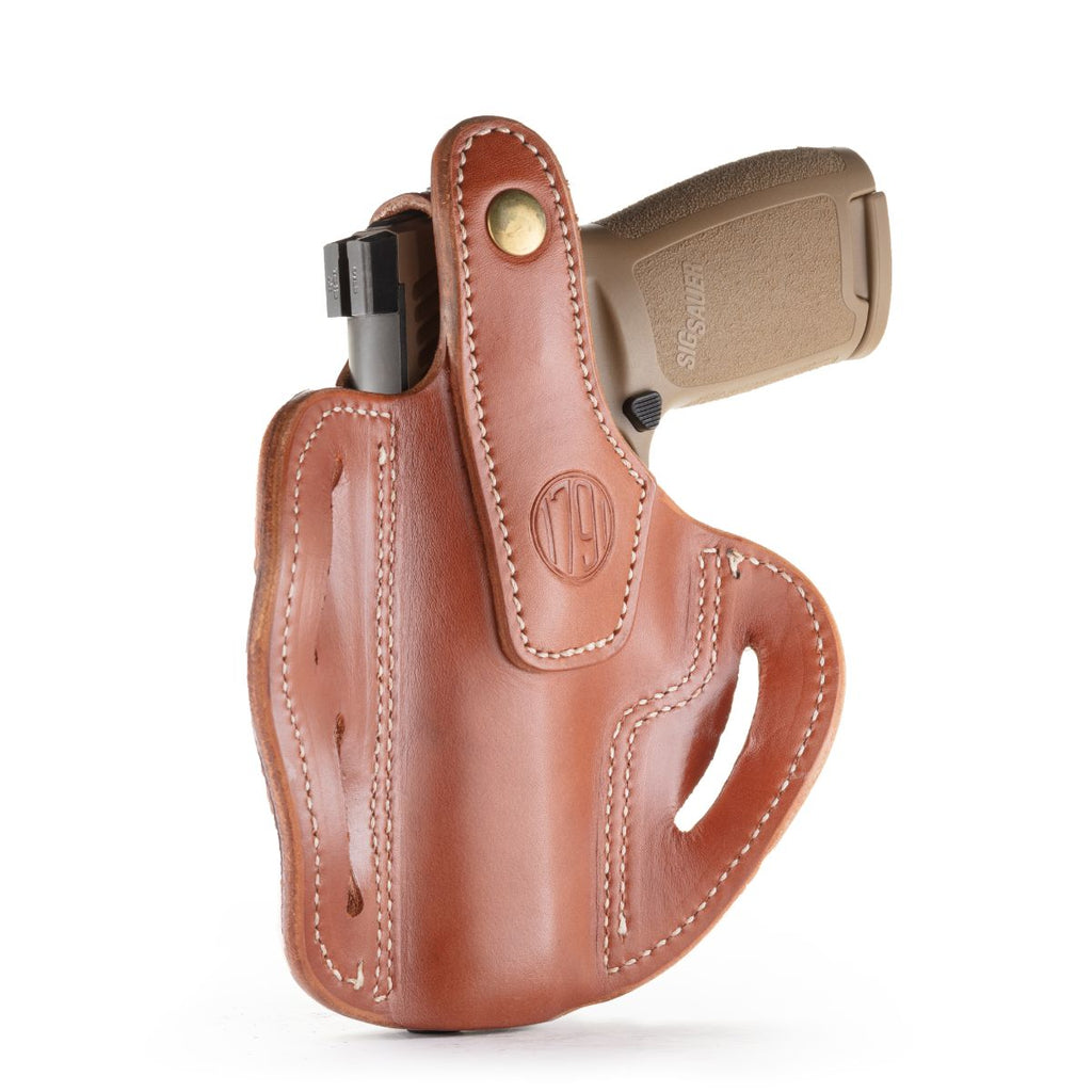 BHx Thumb Break Belt Holster Size 5 Classic Brown Right Hand