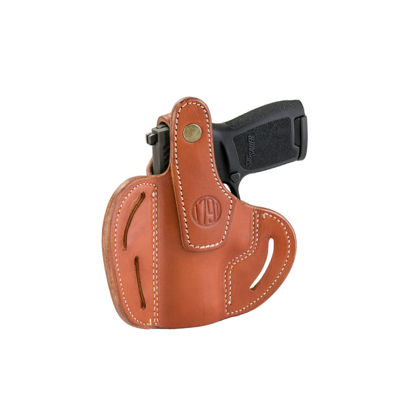 BHx Thumb Break Belt Holster Compact Classic Brown Right Hand